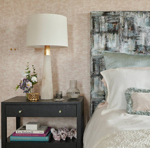 A Blushing Bedroom at the Traditional Home Hamptons Show House