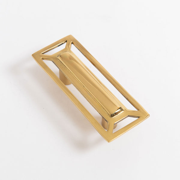 Mccoy Rectangle Pull in Brass