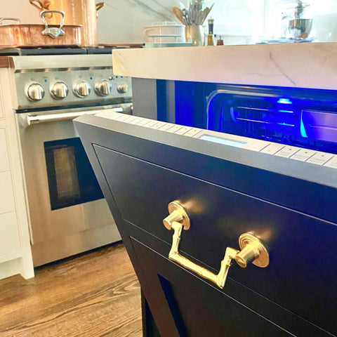 Eddie Ross Kitchen Design with Bamboo Drop Pull