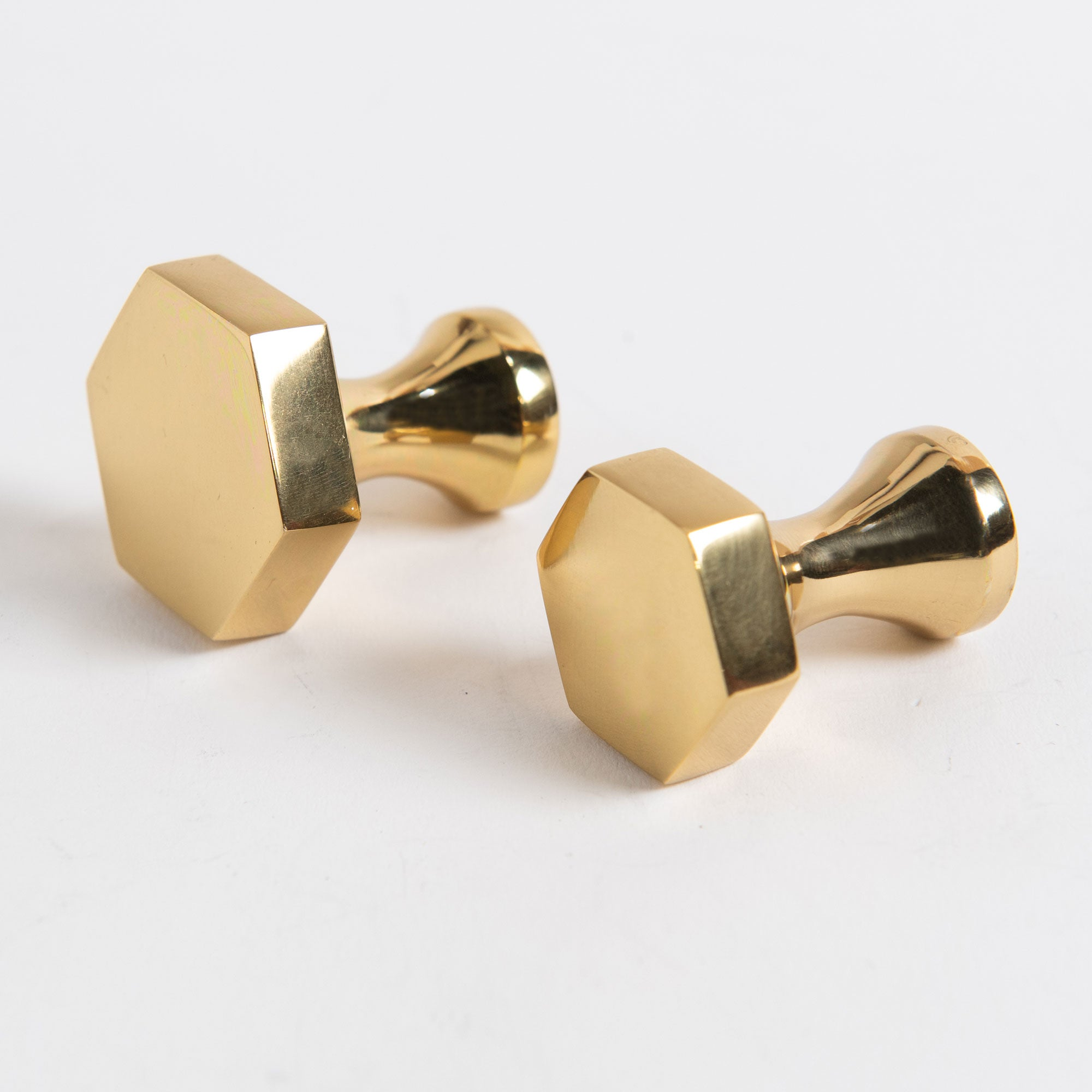 Middleton hex brass knobs group