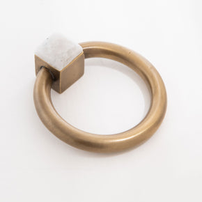 Porter Ring Custom Pull - Antique Brass