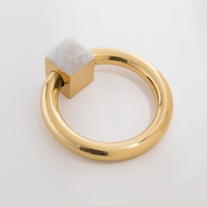 Porter Ring Custom Pull - Polished Brass