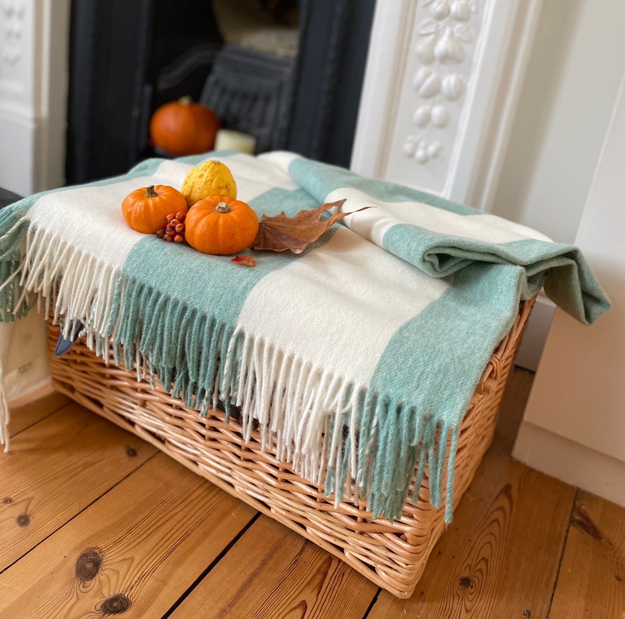 Issy Granger | Striped Merino Wool cosy throw