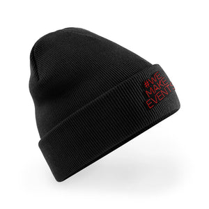 mens embroidered beanie #wemakeevents
