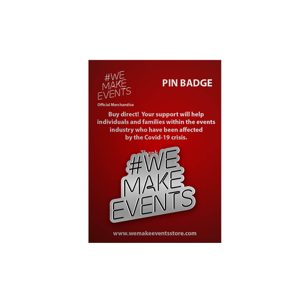 #wemakeevents pin badge silver