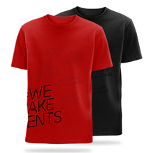 Load image into Gallery viewer, #we make events side print t-shirts