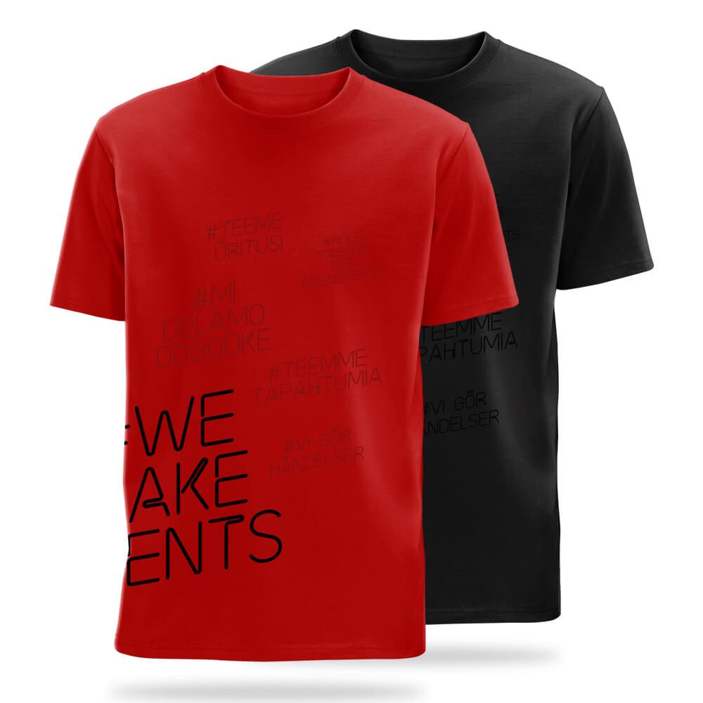 #we make events side print t-shirts