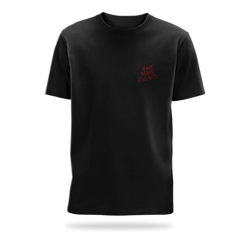 #we make events embroidered t-shirt