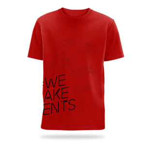 #we make events side print t-shirt red