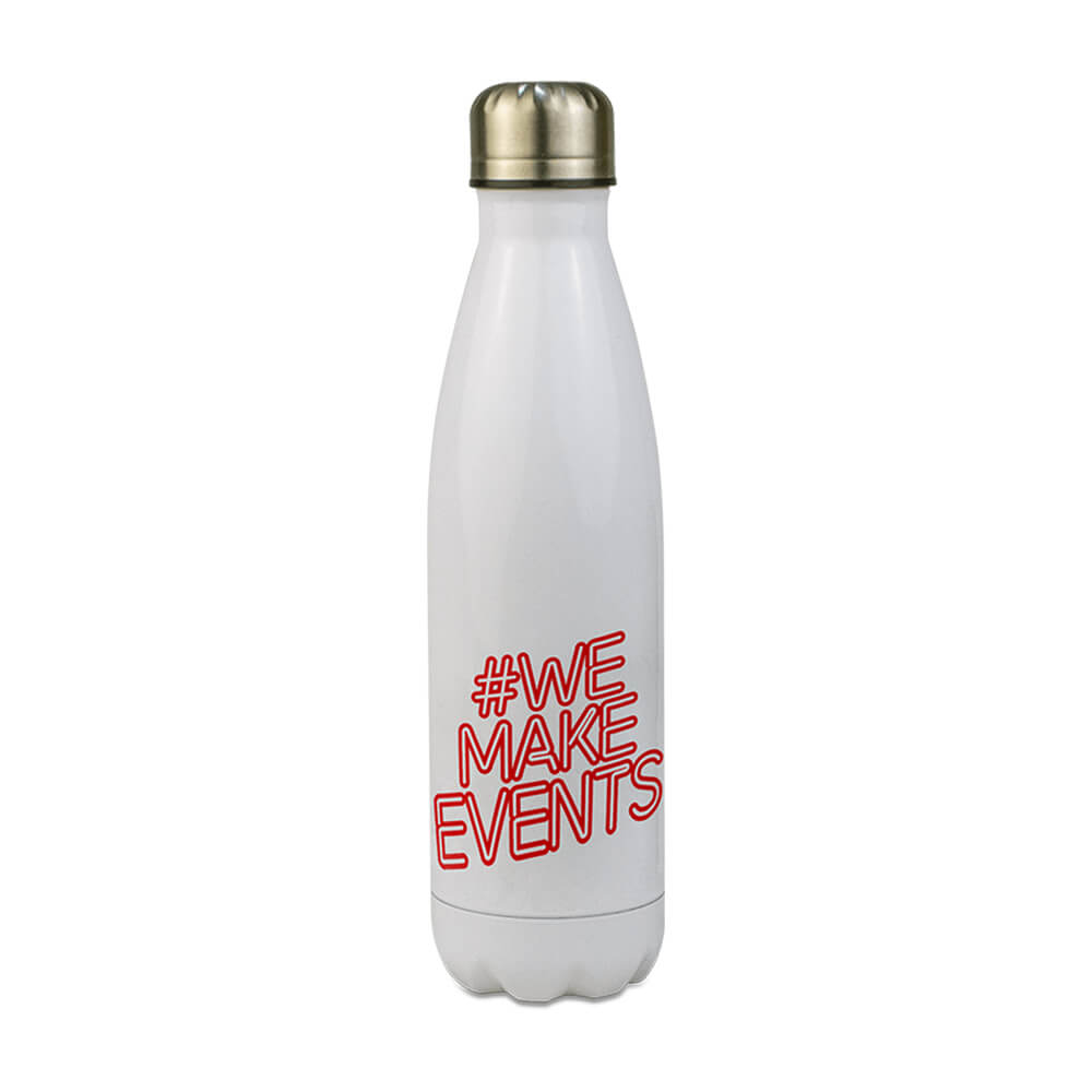#we make events water bottle