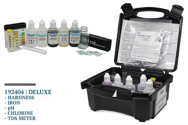 Spectrum Deluxe Field Analysis Kit (Iron, Hardness, pH, Chlorine & TDS) - 192404 | Water Test Kits & Meters | qualitywaterforless.com