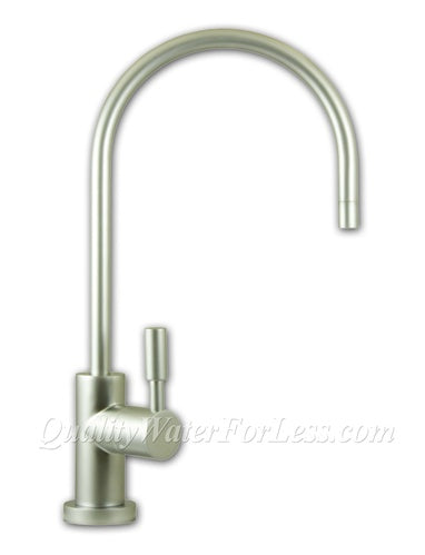 Liquatec EC25 Contemporary Ceramic Disc Faucet- Satin Nickel | Reverse Osmosis | qualitywaterforless.com