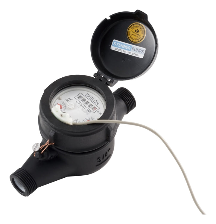 "Stenner Plastic Water Meter, 3/4"" - JLP0750-1PPG 