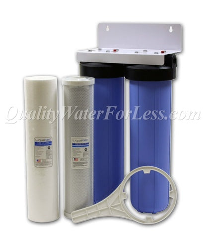 Whole House Sediment & CBC Carbon Chlorine Taste & Odor Kit | Filters & Housings | qualitywaterforless.com