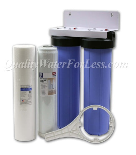 Whole House Sediment & KDF-55/GAC Chlorine Taste & Odor Kit | Filters & Housings | qualitywaterforless.com