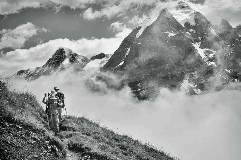 Hiking the beautiful Swiss Alps in Summer