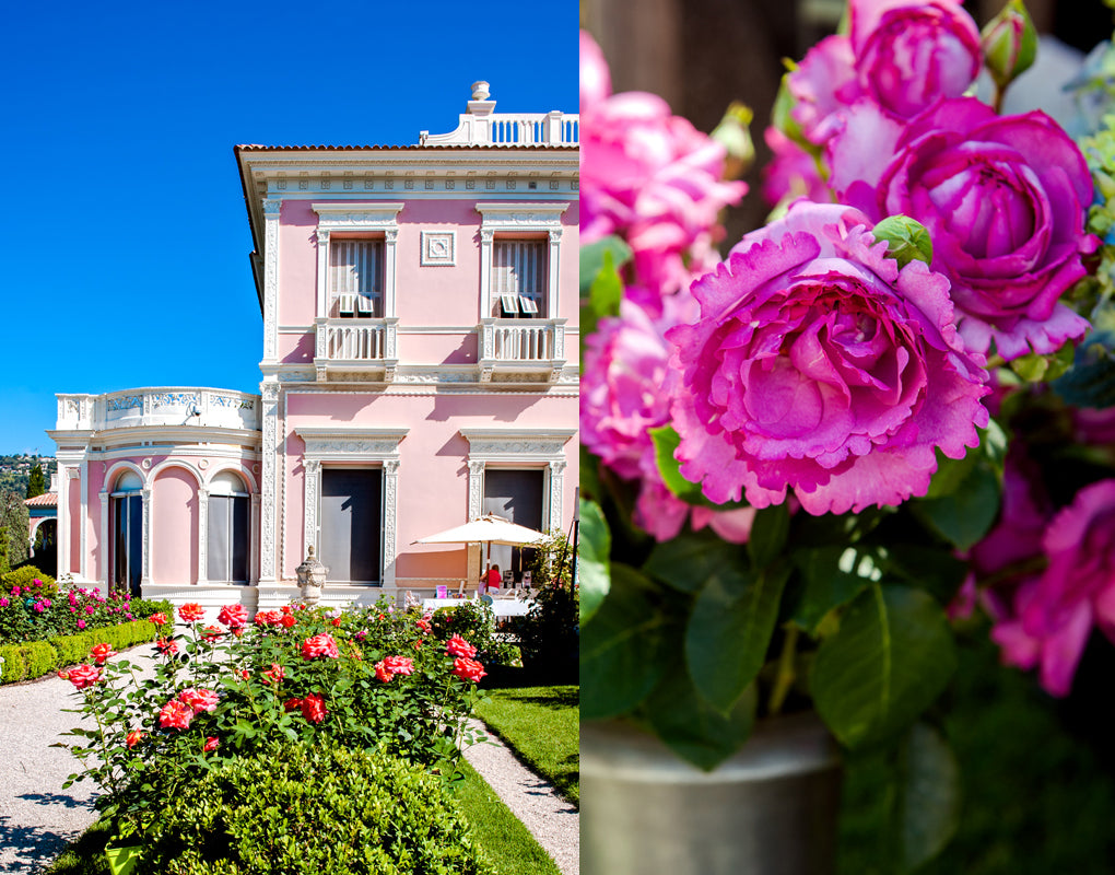 The annual rose festival at the Villa Euphrussi de Rothschild on Cap Ferrat on the French Riviera