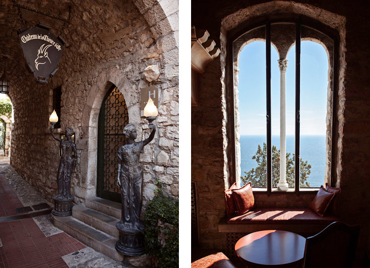 The sublime luxury hotel le Chevre d'Or in the medieval village of Eze on the French Riviera