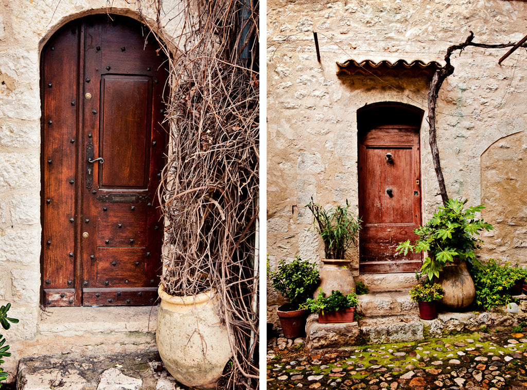 The village of St Paul de Vence in photographs. Here are two beautiful village doors