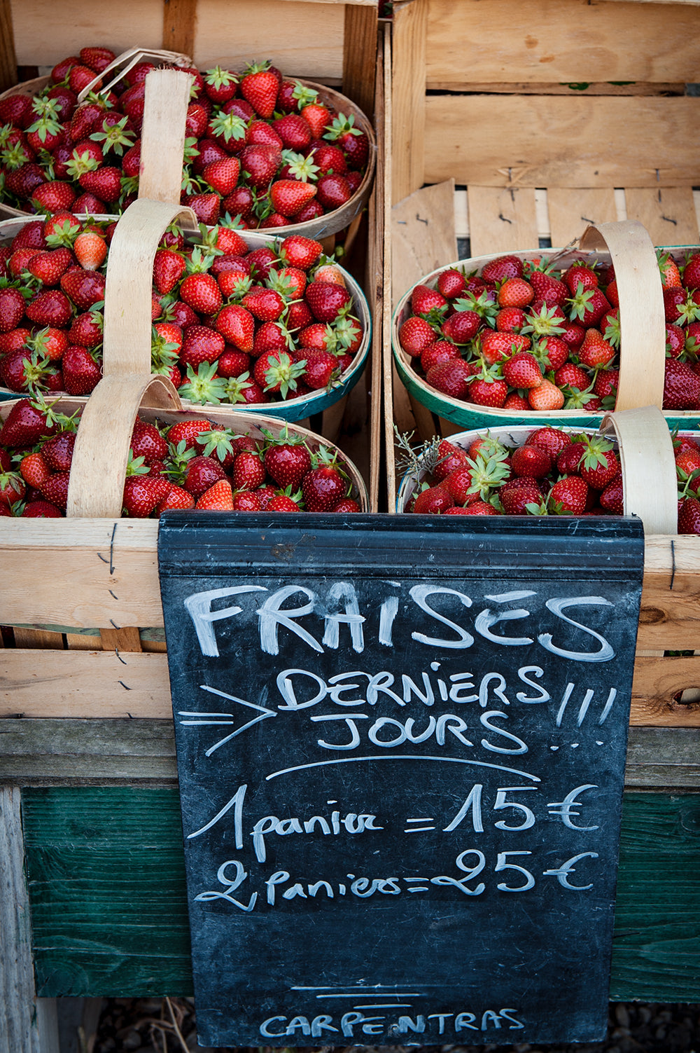 strawberries provence, french strawberries,