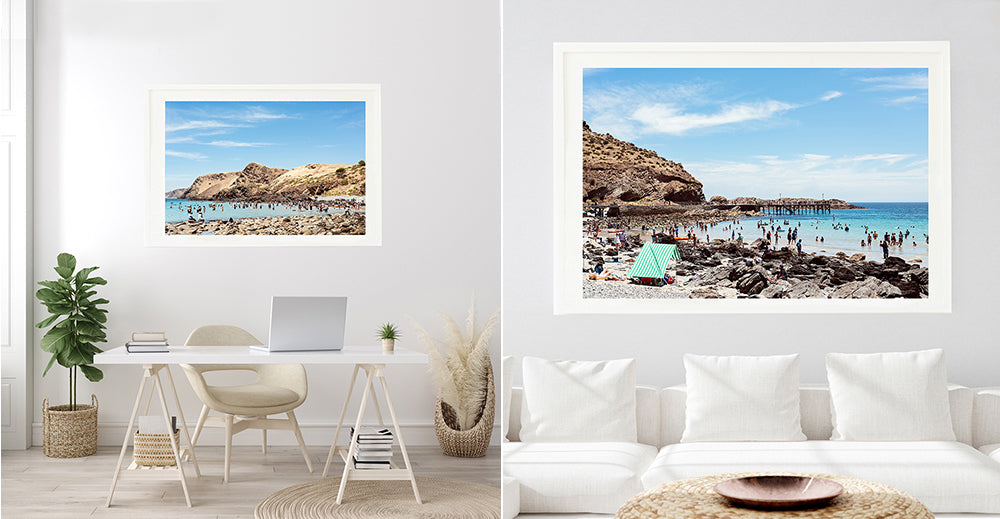 beach prints, millie brown prints, robe beach prints, second valley beach, beach art prints, beach house art, beach wall art,