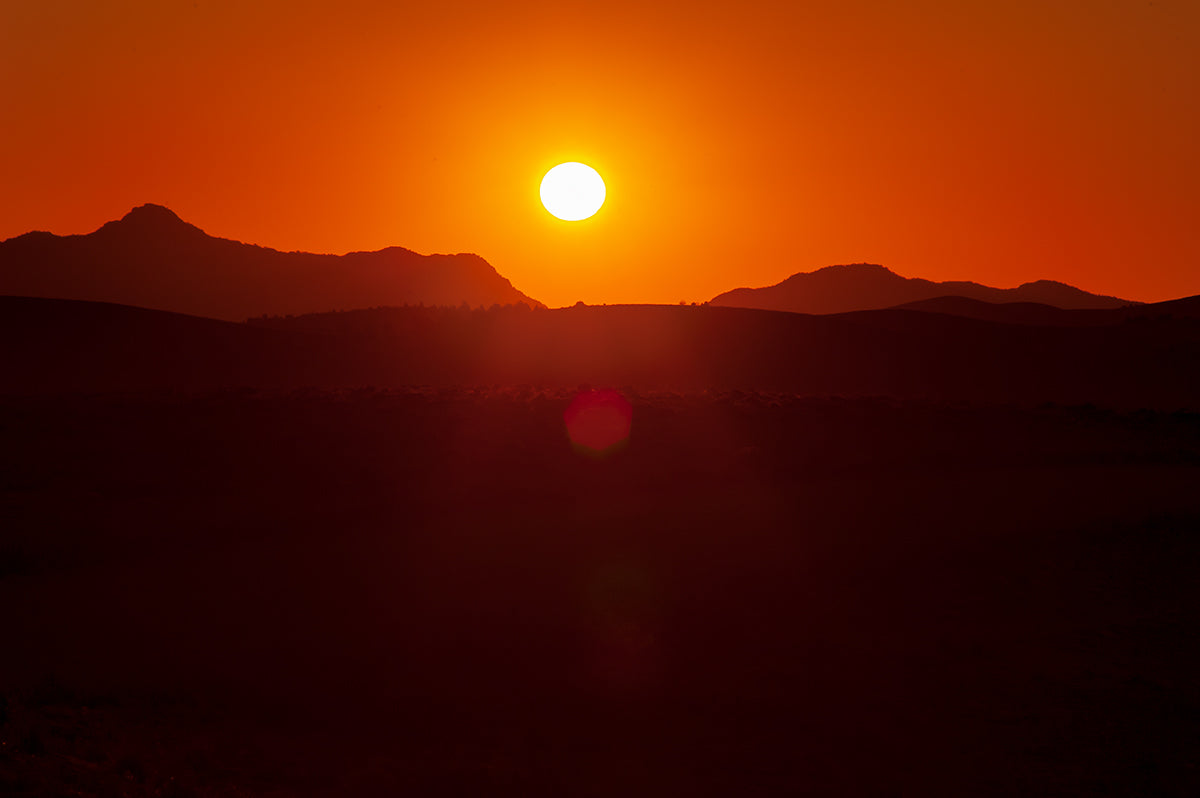 Flinders Ranges sunset at Stokes Hill