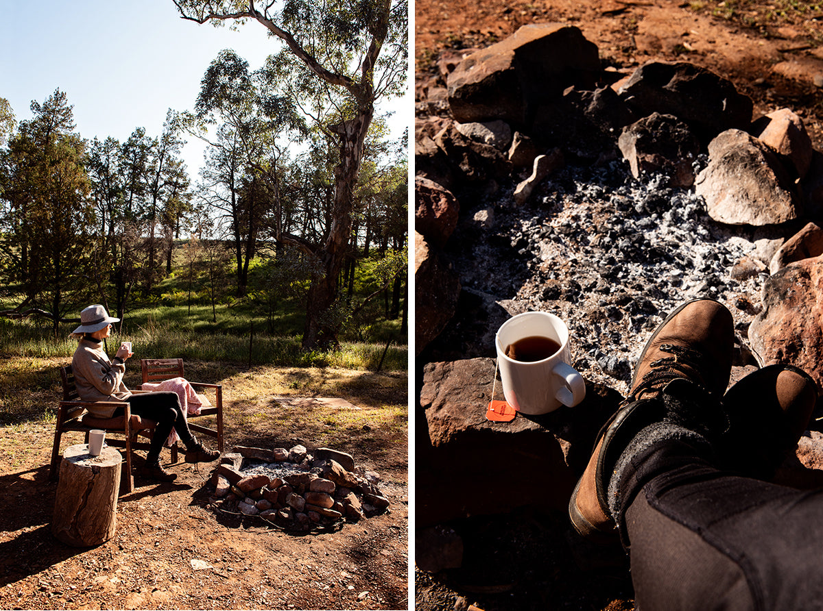 breakfast by the campfire at wilpena pound safari camp flinders ranges south australia