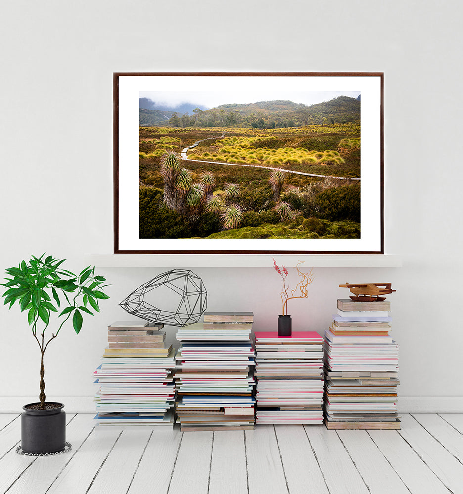 Framed wall art print of Cradle Mountain Tasmania, from the Into The Wild collection of artwork by photographer Millie Brown