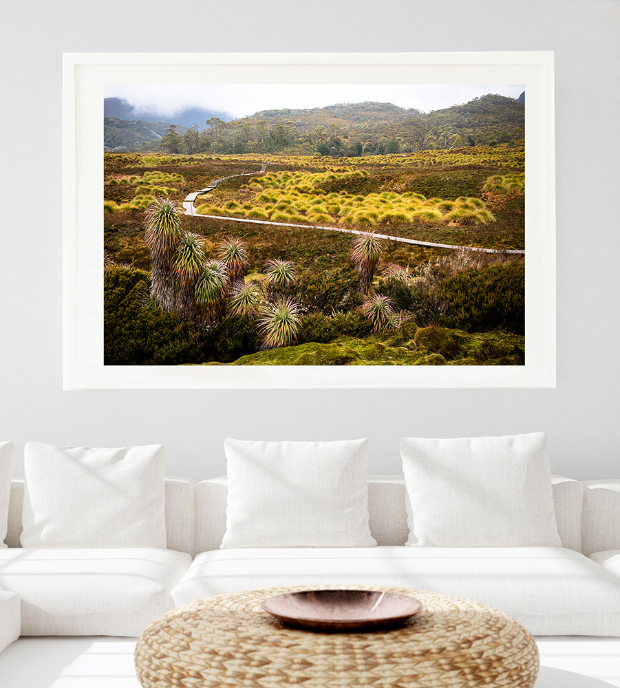 Photographic wall art print of Cradle Mountain Tasmania, from the Into The Wild collection of artwork by photographer Millie Brown