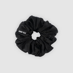 Shh Silk - Black Silk Scrunchie