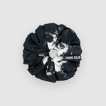 Shh Silk - Black Marble Silk Scrunchie