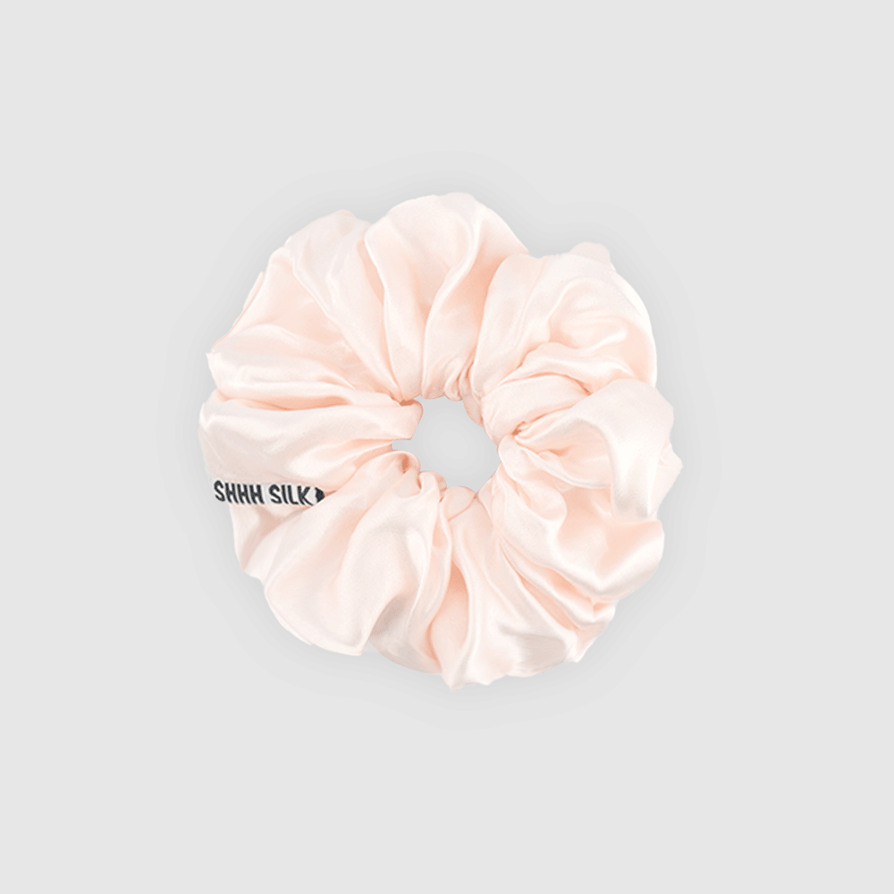Shh Silk - Blush Silk Scrunchie