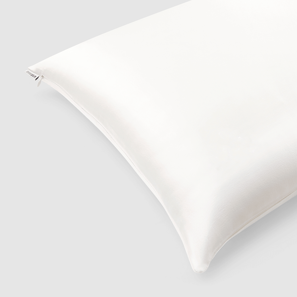 Shh Silk - Off White Silk Pillowcase