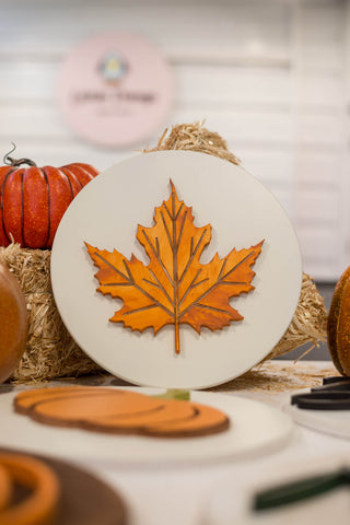 Fall Maple Leave Sign