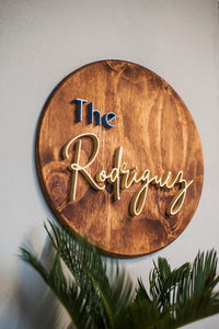 Last Name Sign Rustic