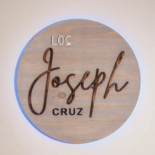 Load image into Gallery viewer, Last Name Sign Rustic