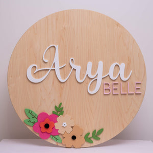 Name Sign 30""