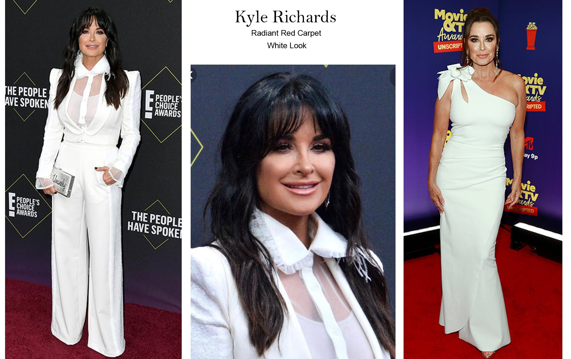 KYLE WHITE SUIT SIDE SEQUIN - SEEN ON RED CARPET PEOPLE CHOICE AWARDS