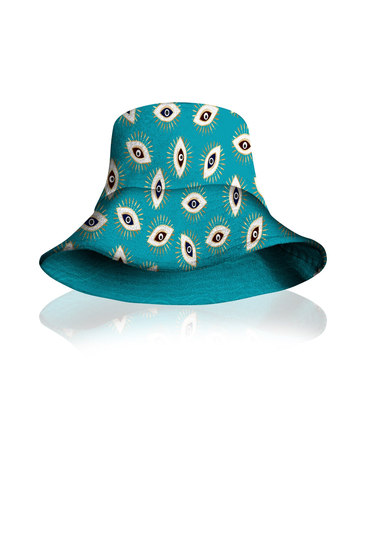 Aqua Reversible Bucket Hat Made With Sustainable  Silk