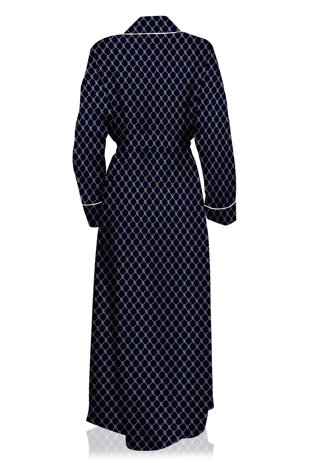 Made With Sustainable Silk Cupro Full Length Robe Dress