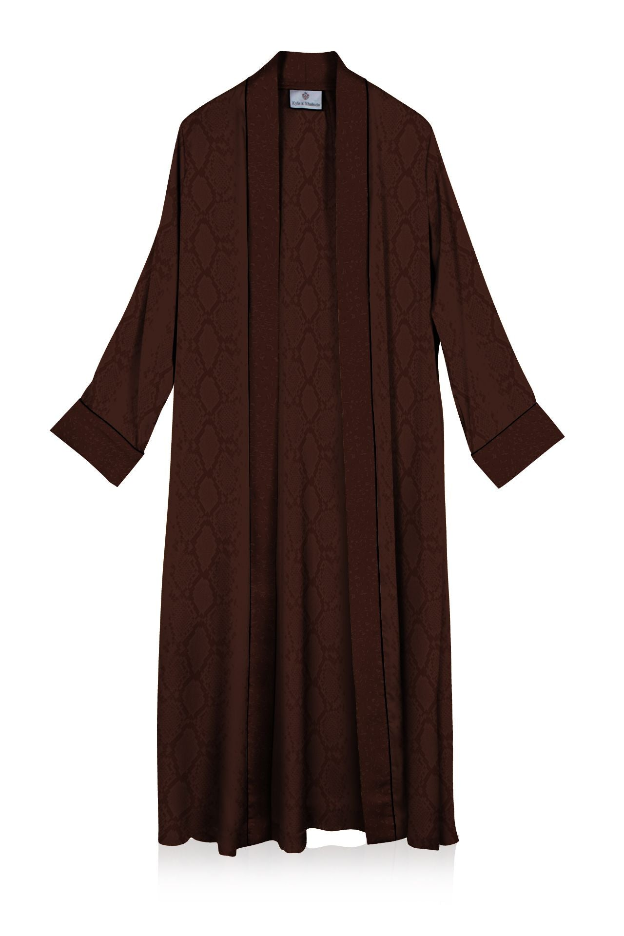 Cupro Sustainable Silk  Long Robe Dress in Golden Harvest