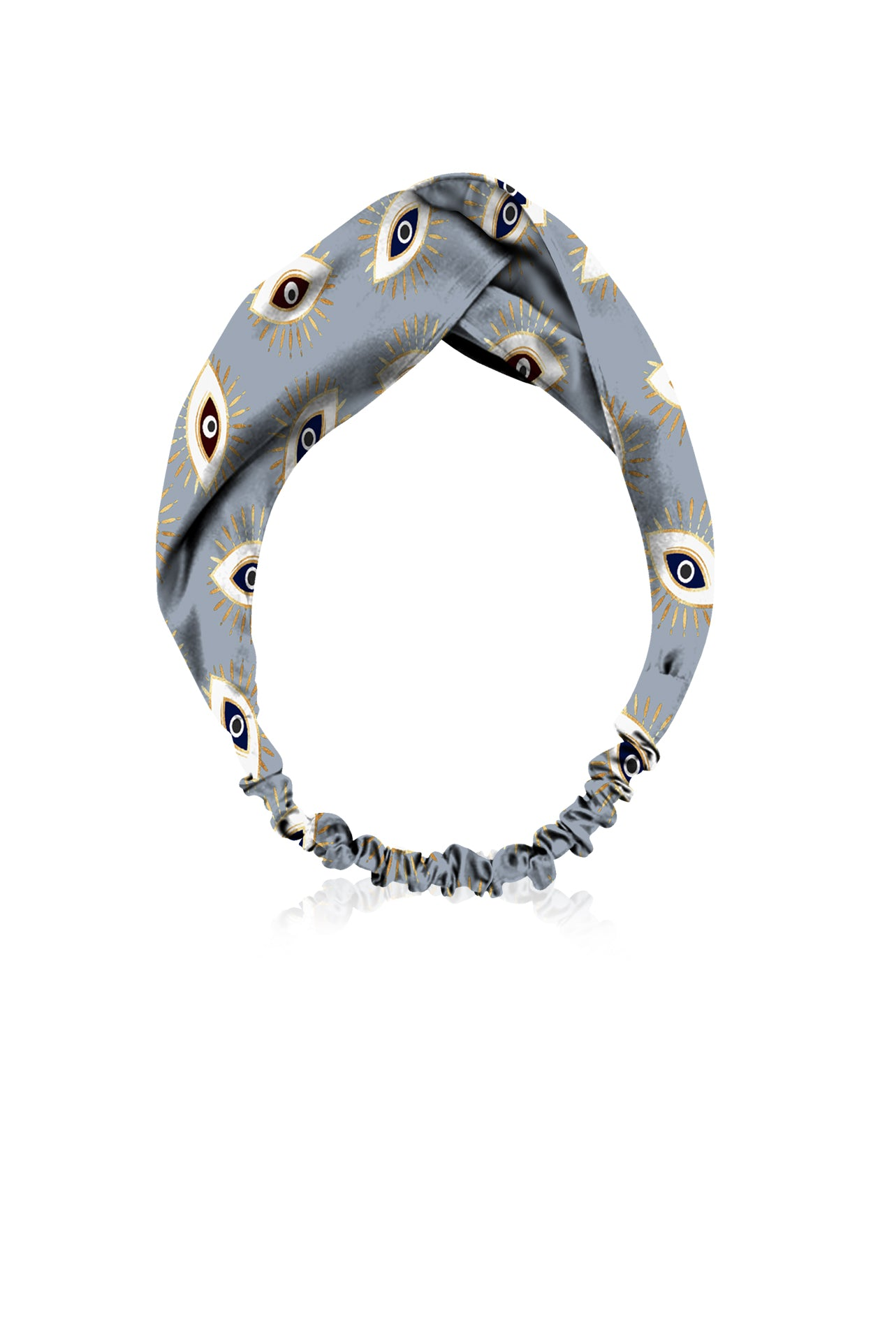 Biodegrabble Vegan Fabrics Headband in Evile Eye  Grey