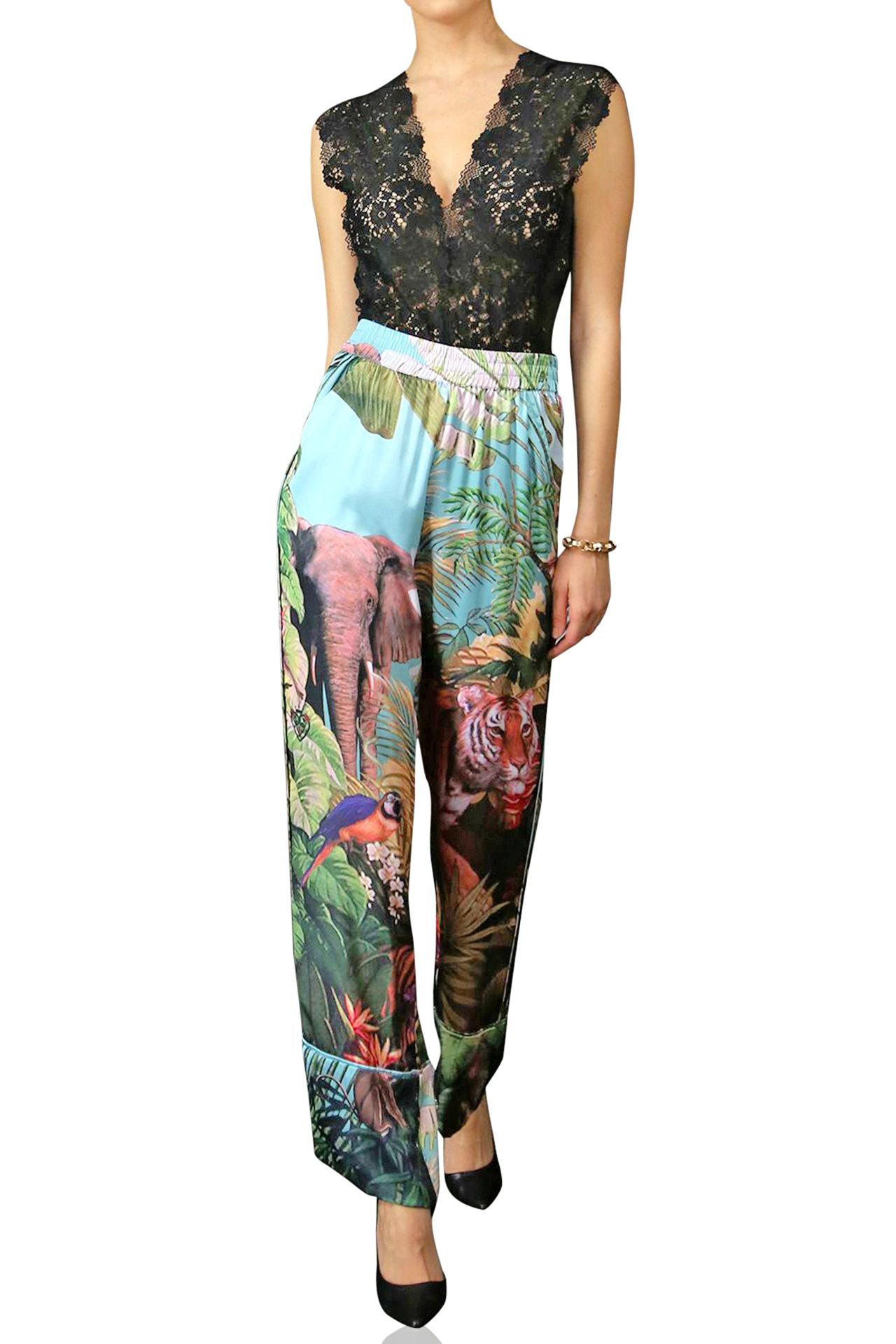 Dark Forest Print Pants