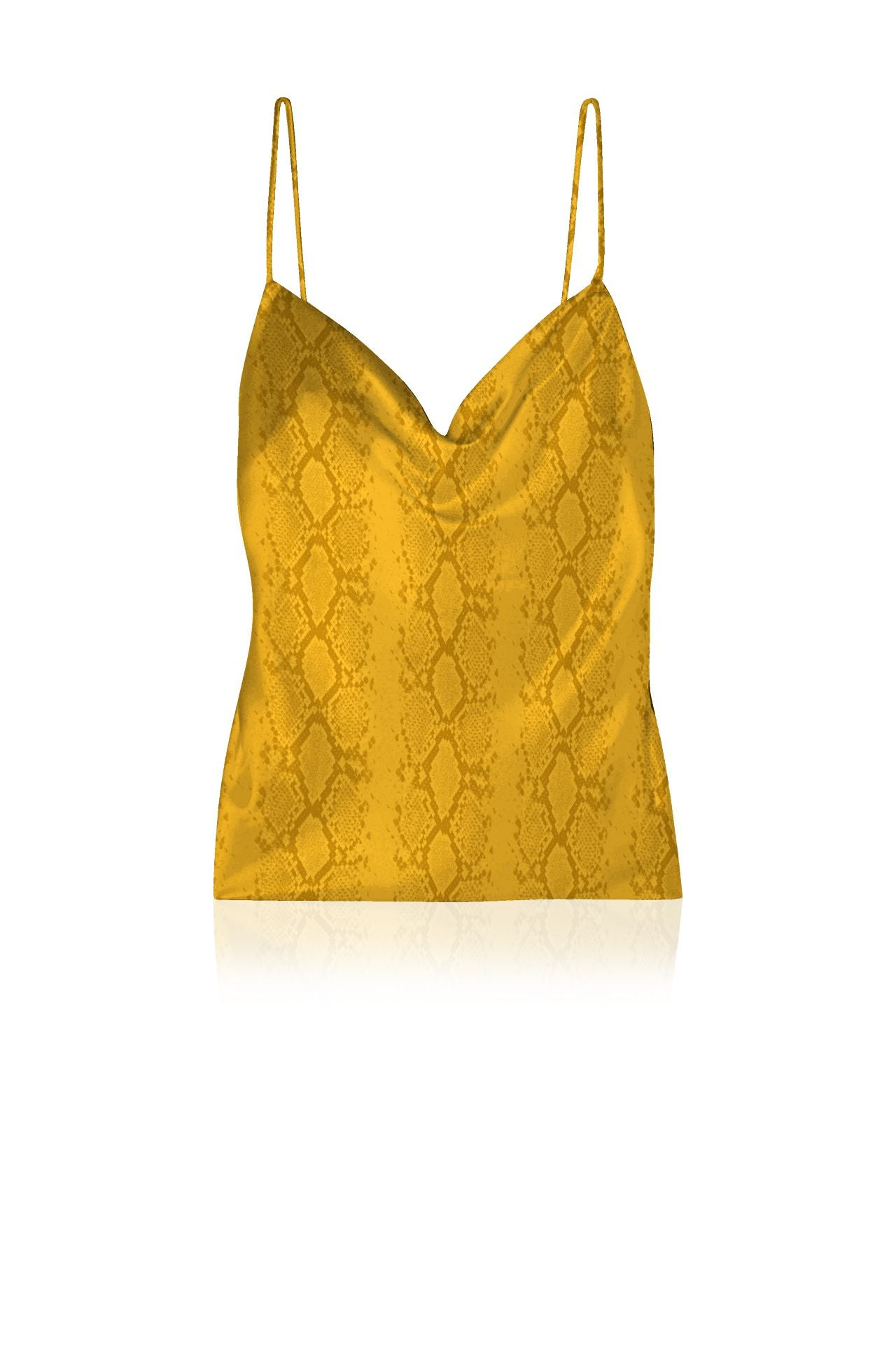 Vegan Silk Cami Top in Solid Golden Cob