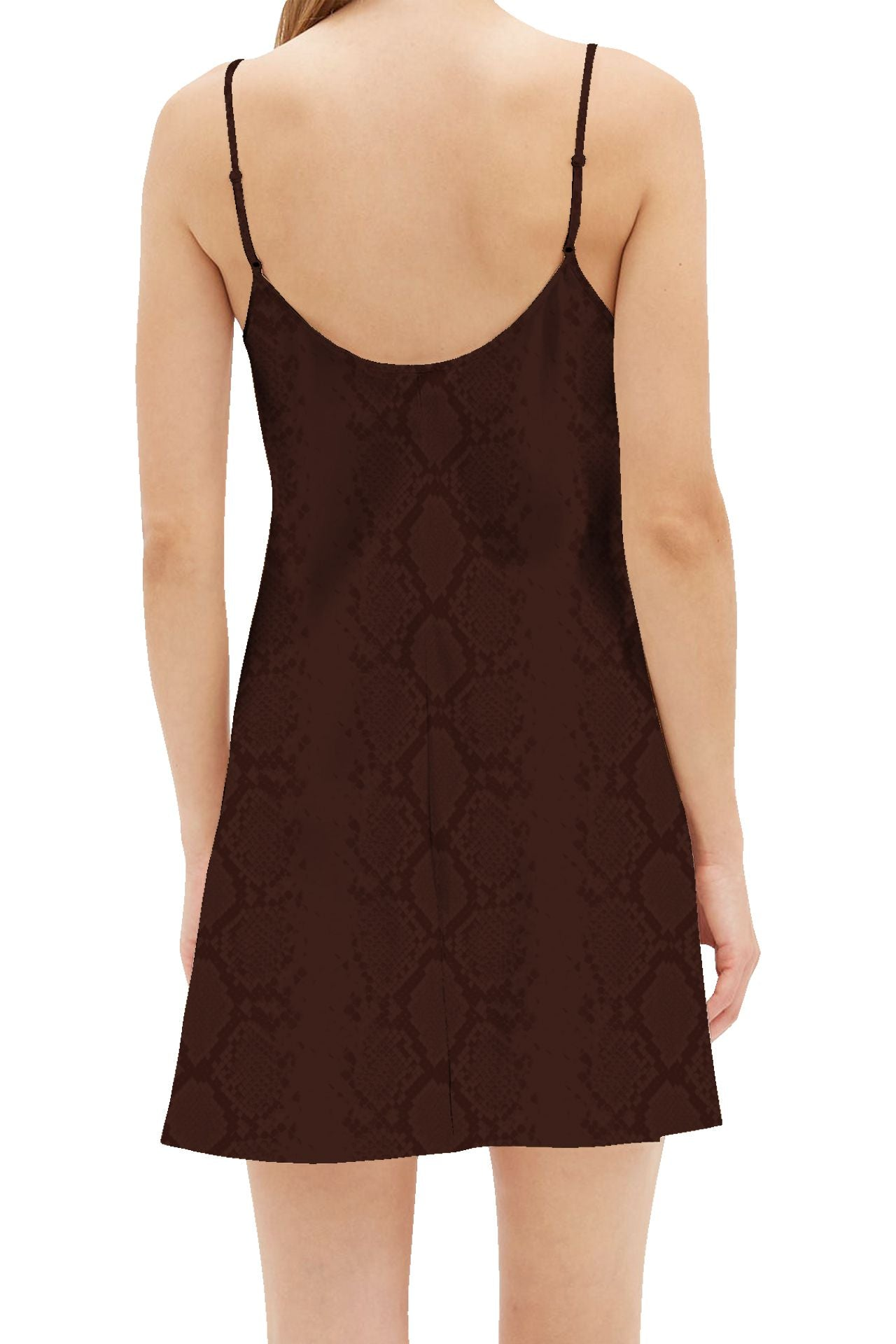 Sustainable Cupro  Mini  Slip Dress in Golden Harvest