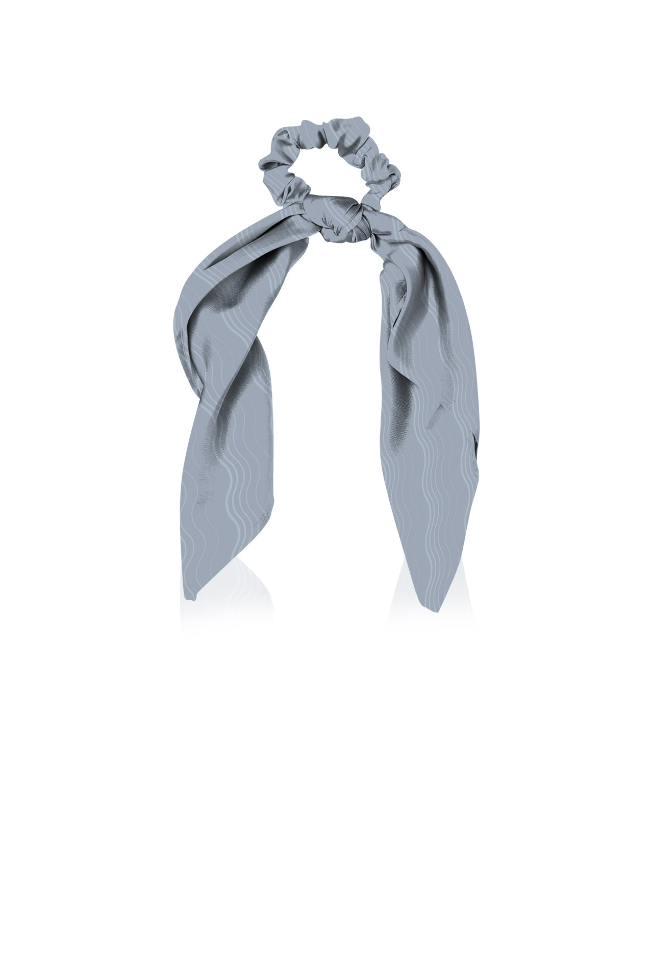 Made With Cupro Vegan Silk Scarf  Scrunchies in Grey