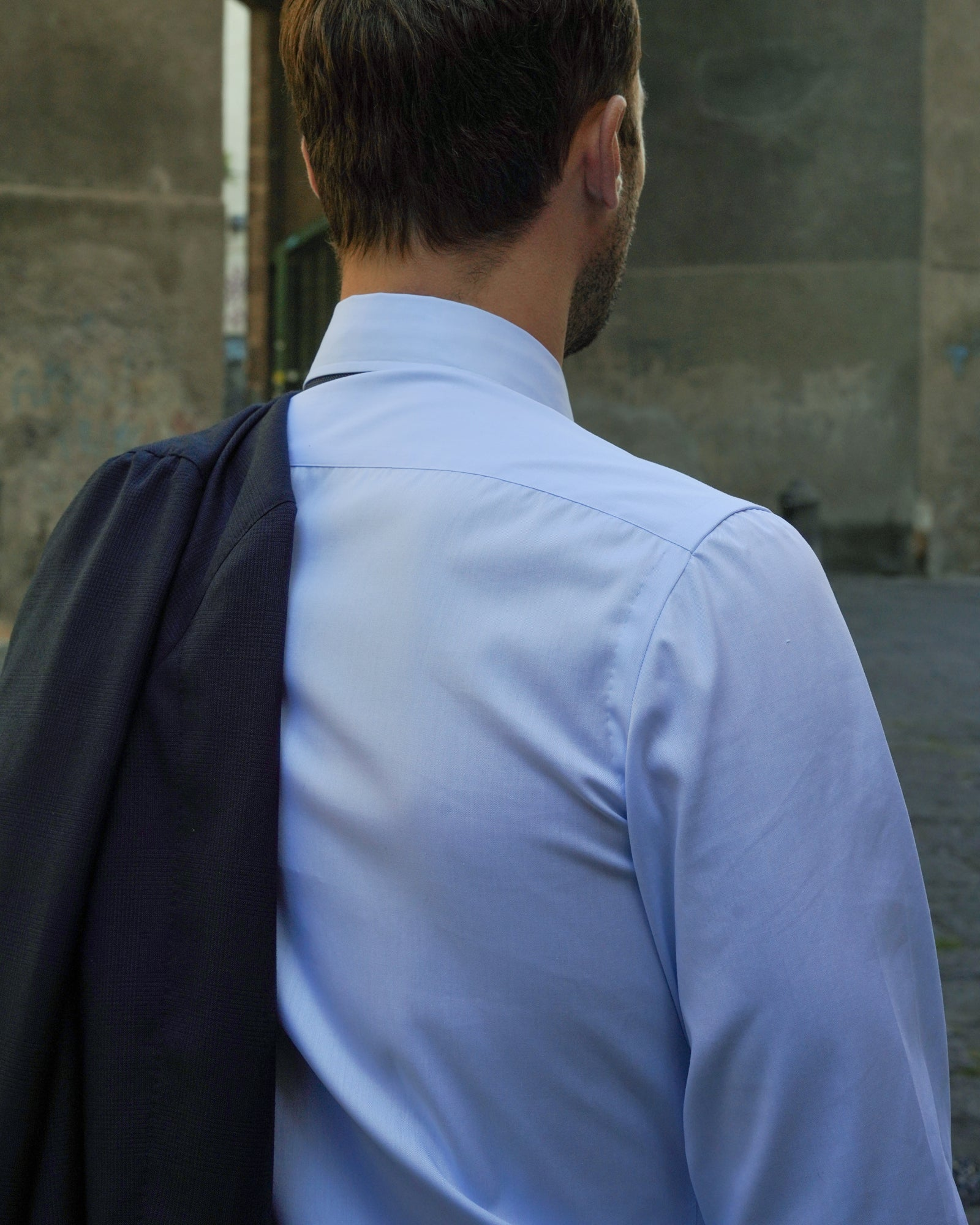 Neapolitan shirt with handmade shoulder