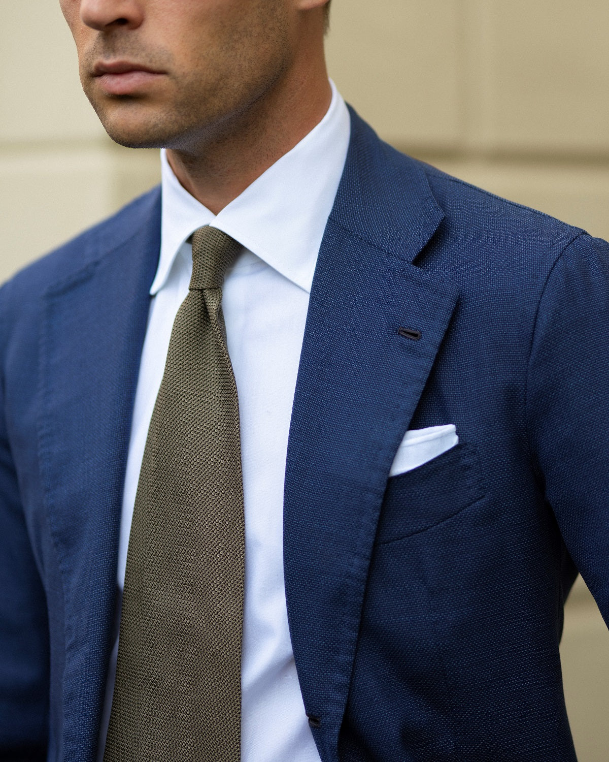Handmade Neapolitan jacket with grenadine tie