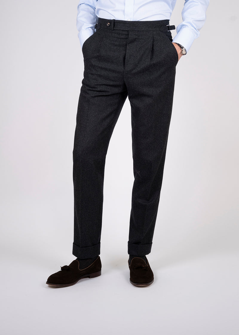 Tailored Trouser Charcoal Flannel