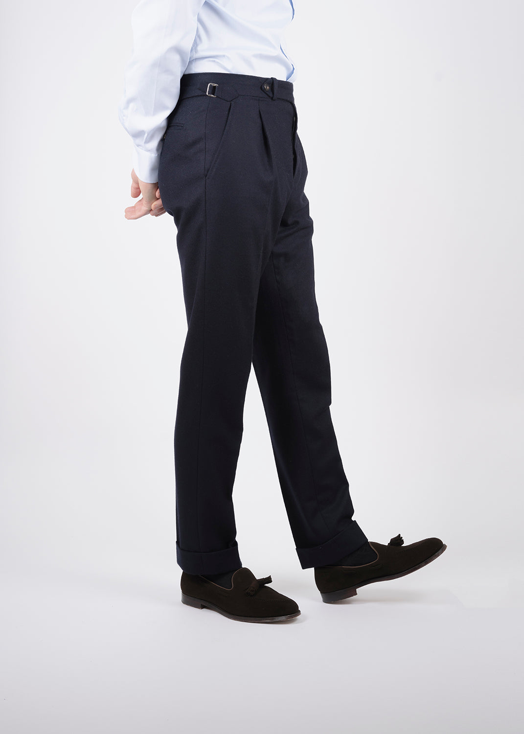 High waisted trousers with side adjusters